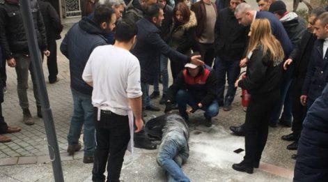 Balıkesir'de bir vatandaş iş başvurusu kabul edilmeyince kendini yaktı