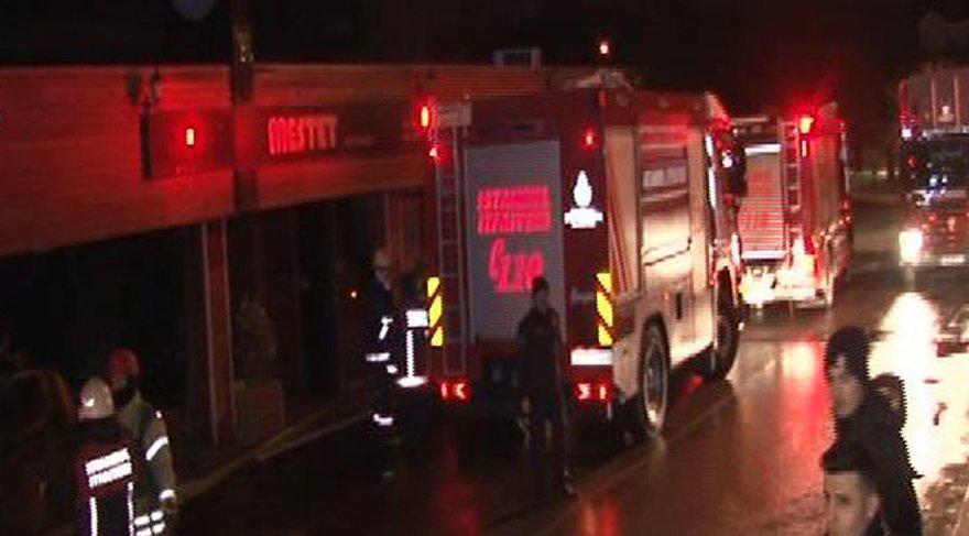 Beykoz'da et restoranında yangın