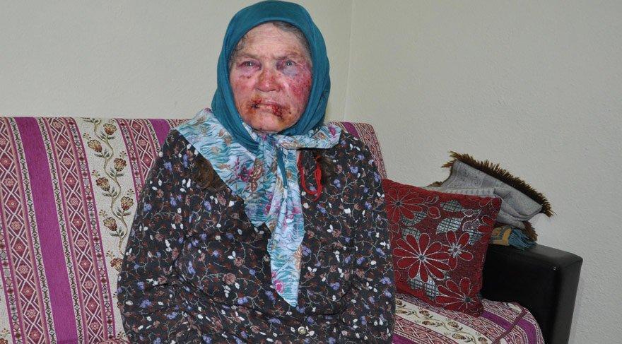 75 yaşındaki kadına evinde gaspçı dayağı
