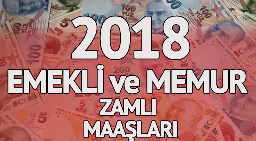 2018 Emekli ve memur maaşı zamları belli oldu!
