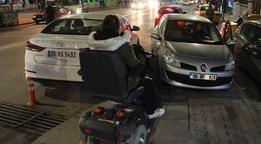 Engelli kadına maganda zulmü