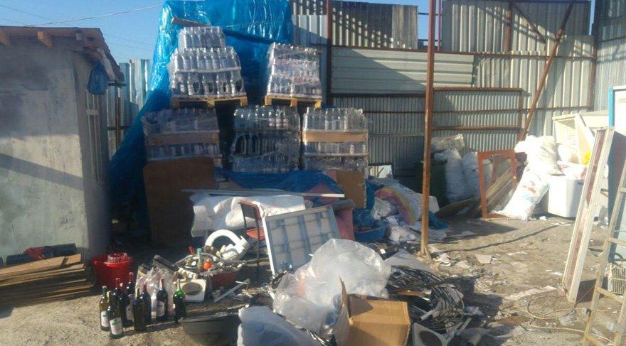 Binlerce şişe sahte içki ele geçirildi