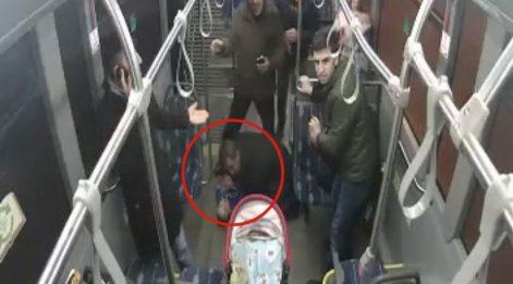 Kahraman şoför kalbi duran, dili boğazına kaçan bebeği kurtardı