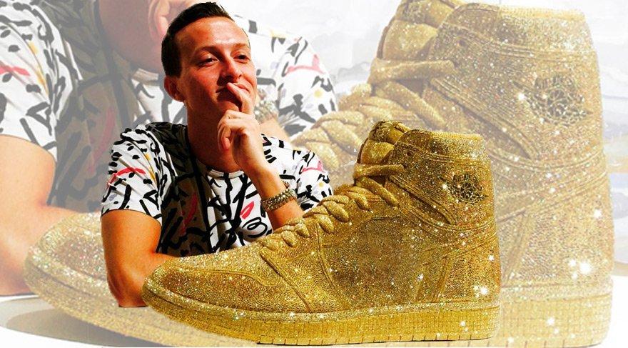 15 bin Swarovski taşlı spor ayakkabı