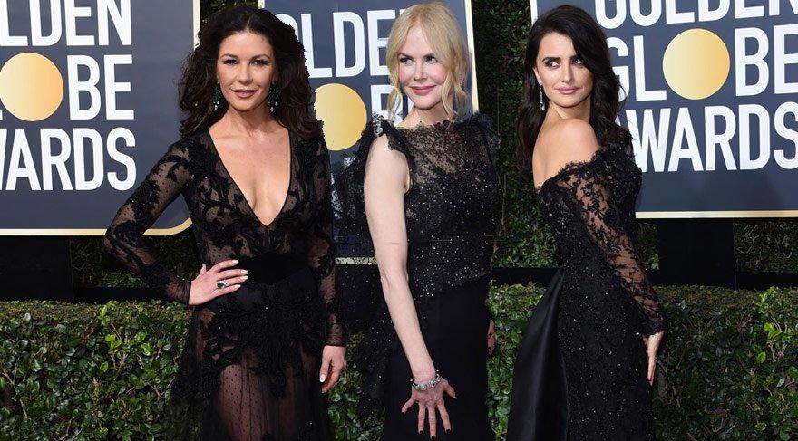 75. Golden Globes (Altın Küre) al halısına kara kıyafetler damgasını vurdu