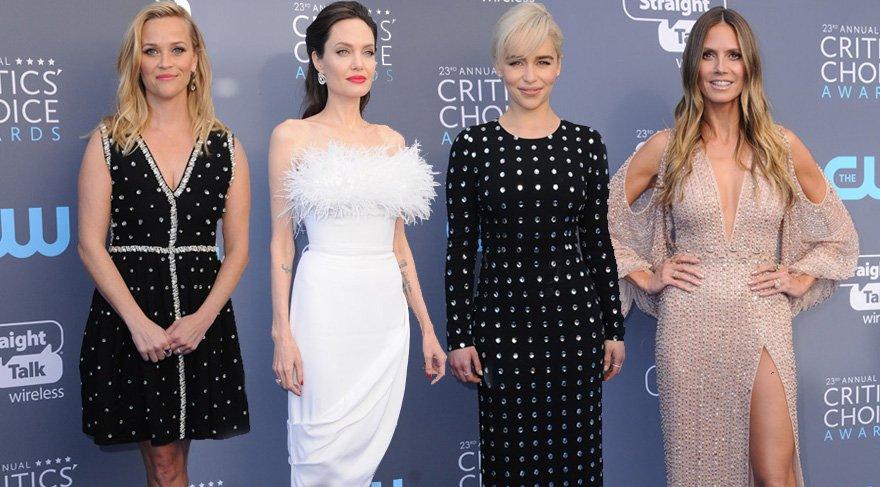 23'üncü Critics' Choice Awards'ta kırmızı halı şıklığı