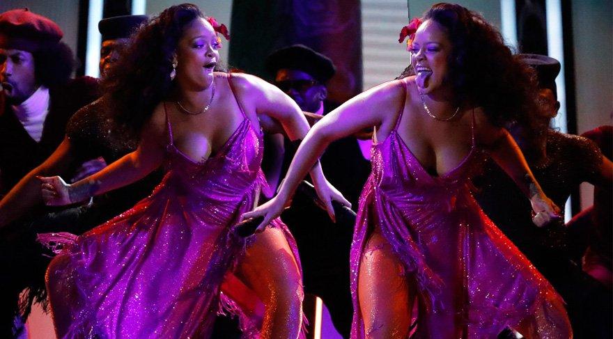 Rihanna'nın 2018 Grammy törenindeki dans performansı ayakta alkışlandı