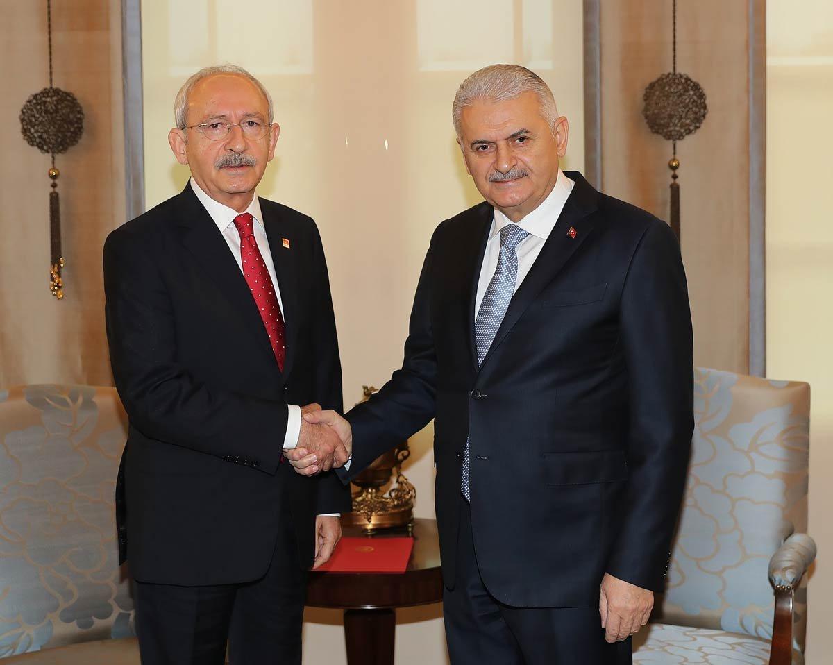 FOTO: İHA / Başbakan Yıldırım ile CHP lideri Kılıçdaroğlu'nun görüşmesi 50 dakika sürdü.