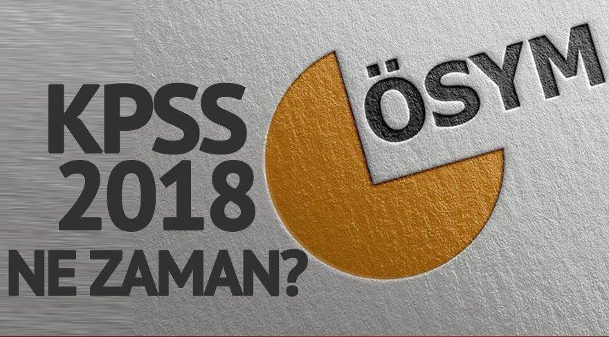 ÖSYM KPSS başvuru tarihleri belli oldu! 2018 KPSS ne zaman? Lisans, önlisans ve lise KPSS sınav tarihleri…