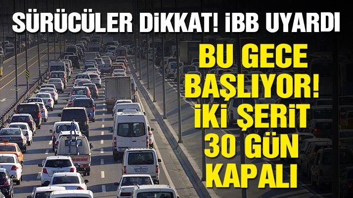 İstanbulluları ilgilendiren çok önemli haber! TEM'de yan yol ve köprü çalışması bu gece başlıyor