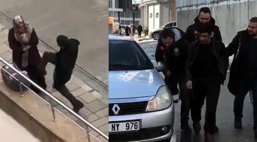 O mahlukat yakalandı: 'Yavaş yürüyor' diye şiddet uygulamış