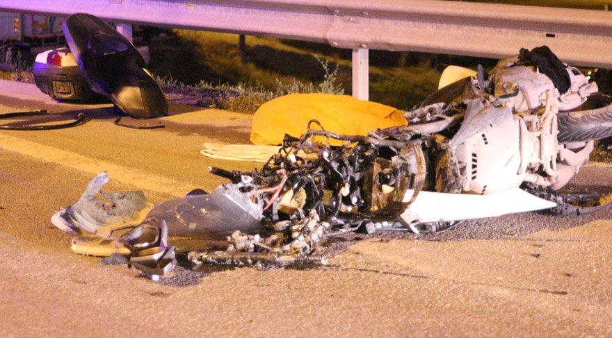 Maltepe'de trafik kazası, motosiklet sürücüsü öldü