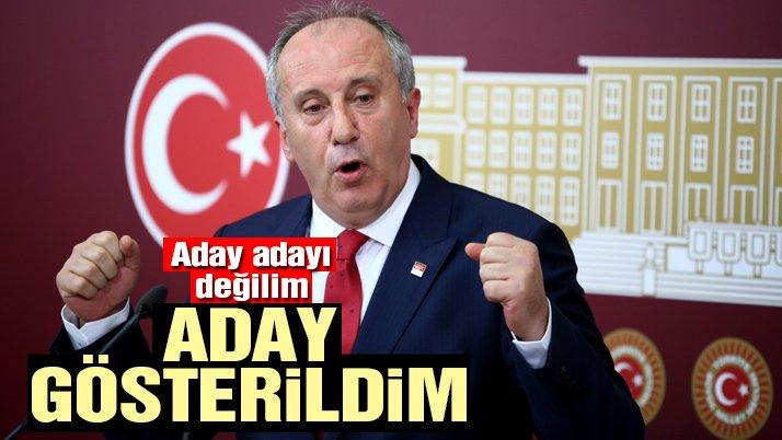Son dakika haberi… Muharrem İnce CHP Genel Başkanlığına adaylığını açıkladı