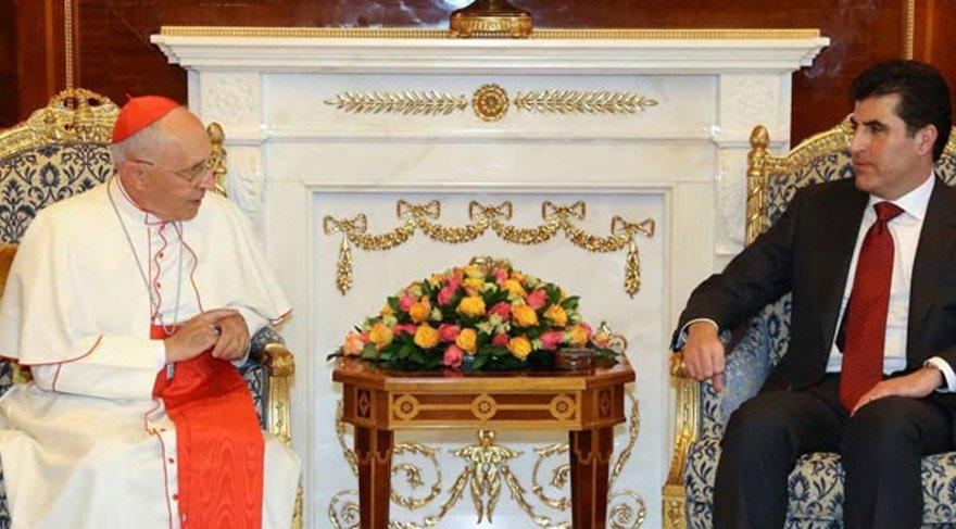 Barzani, Vatikan'da Papa ile görüştü