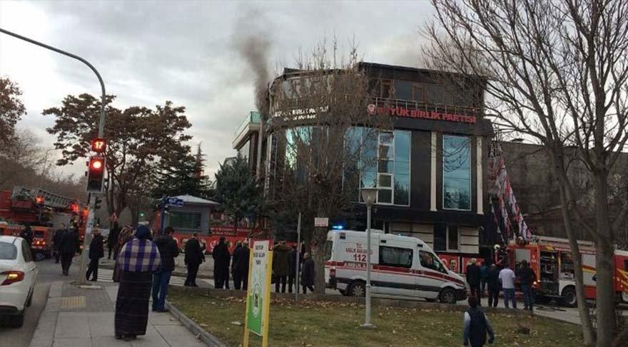 Son dakika haberi... BBP Genel Merkezi'nde yangın