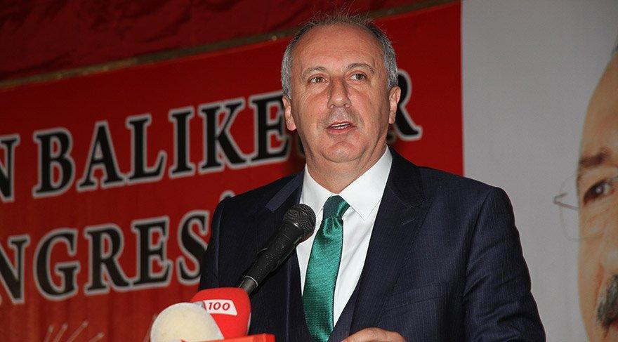 CHP'li İnce, partisinin Balıkesir kongresinde konuştu