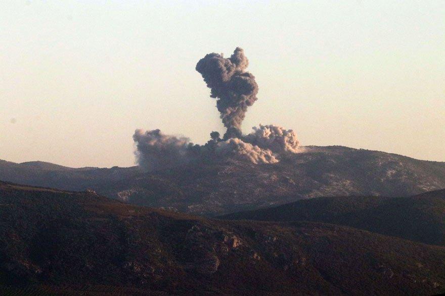 Afrin'e 'Zeytin Dalı Harekatı' başladı! Türk savaş jetleri PYD'yi bombalıyor