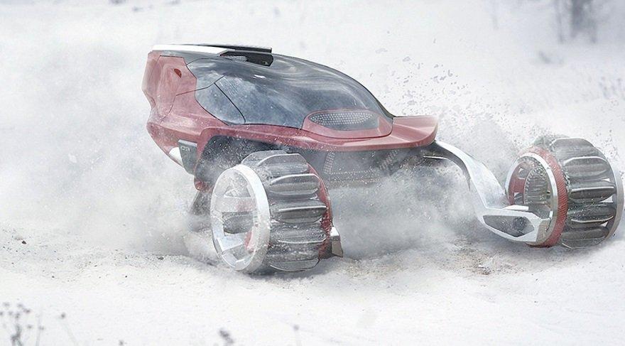 Uzay gemisi değil… Kar motosikleti!