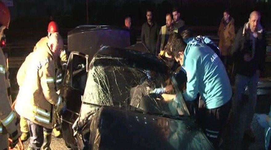 TEM'de zincirleme kaza: 2 yaralı