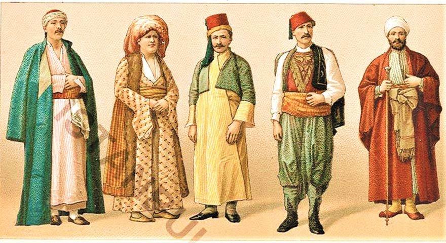 Osmanlı milletlerinin giyim kuşamları.