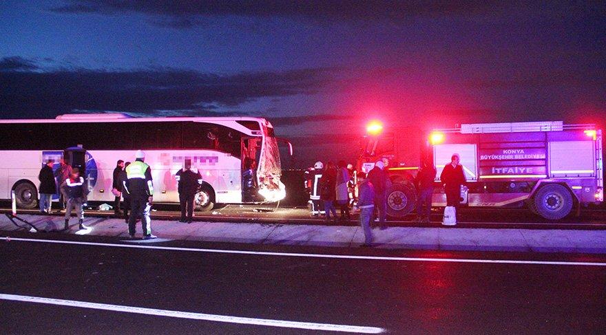 Foto: DHA / Konya'da meydana gelen kazada 9 kişi yaralandı