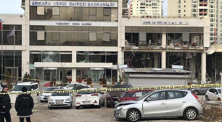 Ankara'da vergi dairesine bombayı koyan PYD'li terörist siyanür içip öldü