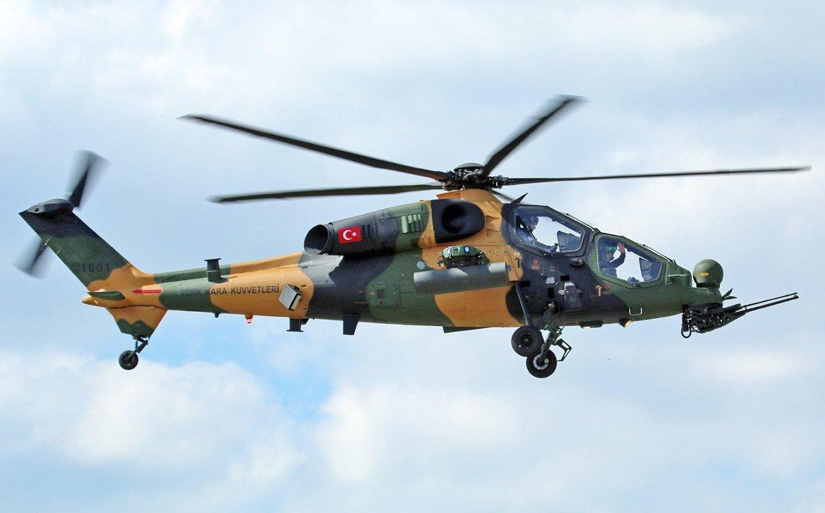 FOTO:ARŞİv- Düşen helikopterin ATAK tipi taarruz helikopteri olduğu öğrenildi.