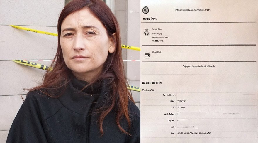 Avukat Gün, davadan aldığı avukatlı ücretini Mehmetçik Vakfı'na bağışladı...