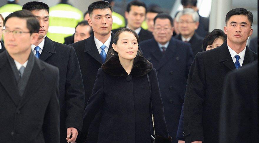 KİM Jong-un'un kız kardeşi korumalarıyla Güney Kore'de