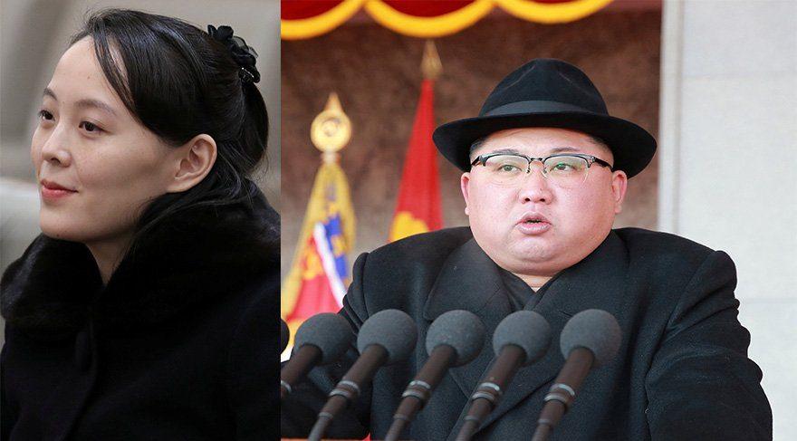 Kim'in kardeşi resmi heyette