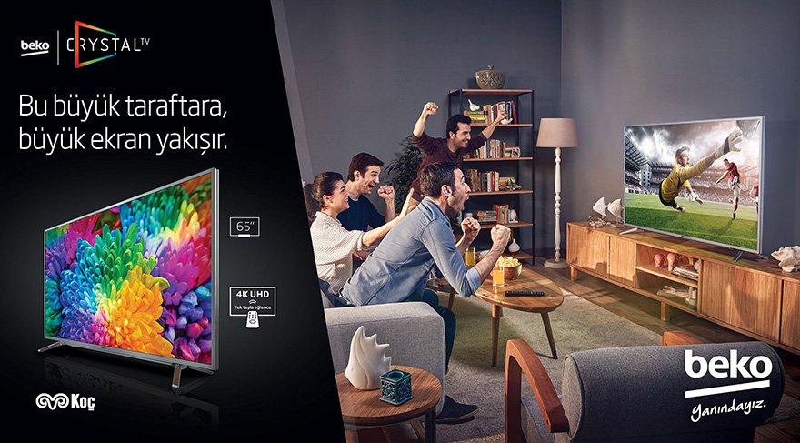 Beko Crystal TV serisi ile büyük ekran, büyük keyif