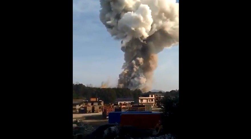 Çin'de büyük patlama