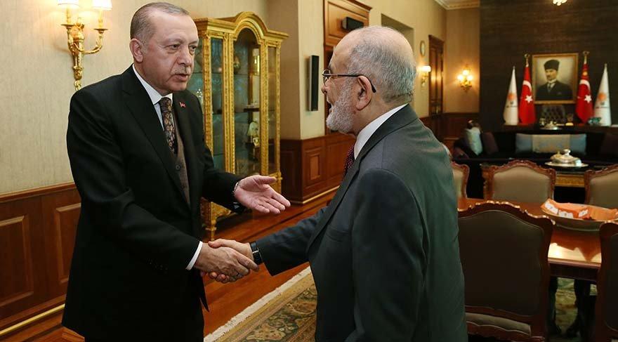 Cumhurbaşkanı Erdoğan Karamollaoğlu'nu kabul etti