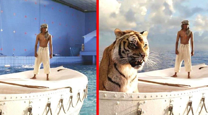 Dünyaca ünlü filmlerin kamera arkası görüntüleri izleyenleri şaşırtıyor!