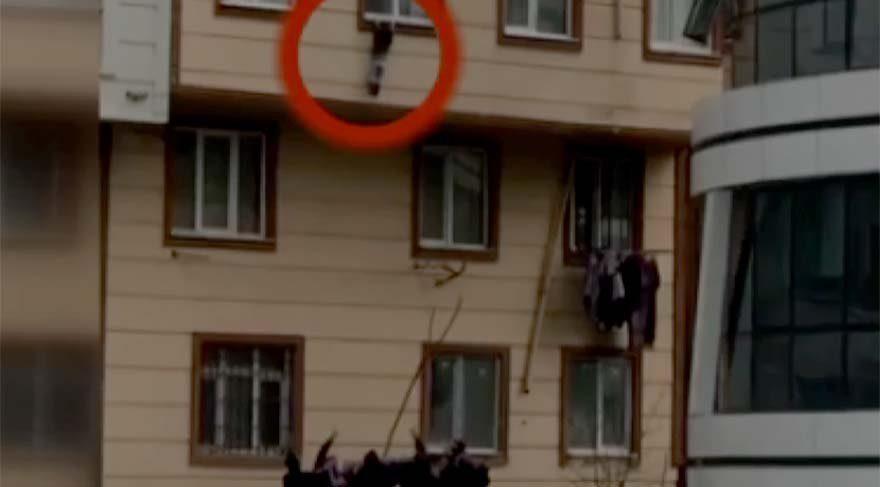İstanbul'da camdan düşen çocuğu havada yakaladılar!