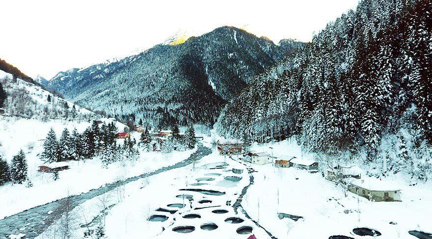 Kaçkarlar'da kış güzelliği
