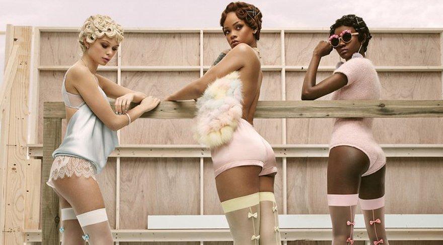 Rihanna Sevgililer Günü için çorap tasarladı