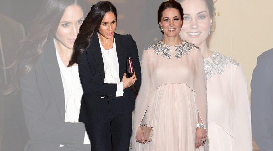 Kate Middleton ve Meghan Markle'ın Alexander McQueen seçimi