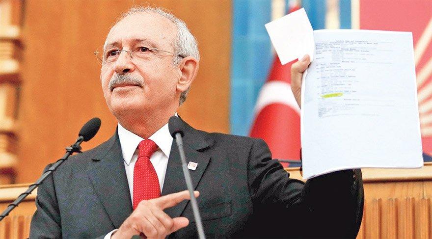 Kılıçdaroğlu Mecls'te banka dekontunu böyle göstermişti.