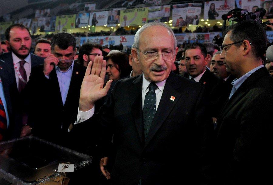 FOTO:SÖZCÜ/Zekeriya ALBAYRAK- Kılıçdaroğlu 790 oyla yeniden CHP'nin genel başkanı seçildi.