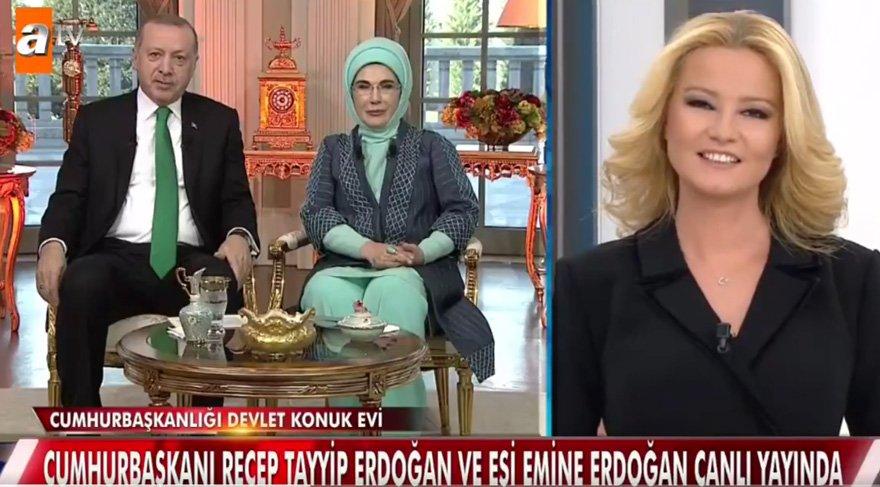 Erdoğan çifti Müge Anlı'nın programında