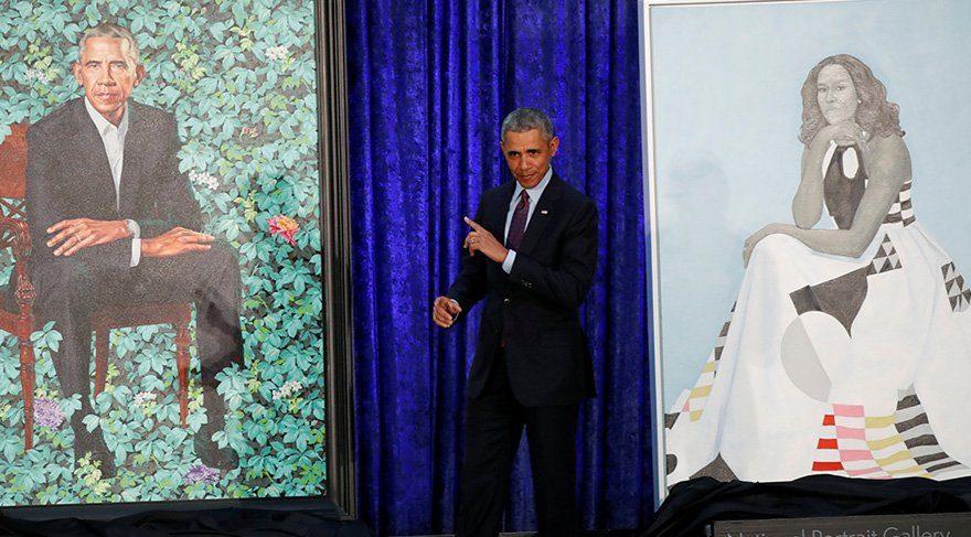 Obama ailesinin portreleri ilk kez sergileniyor