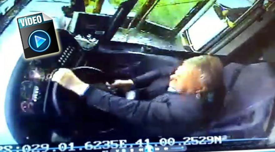 Üsküdar'daki kaza anında sürücü kabinini gören güvenlik kamerasının görüntüleri