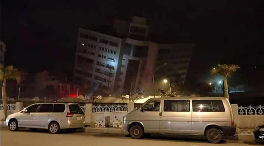 Tayvan'da 6.4'lük deprem! İlk görüntüler dehşet verici