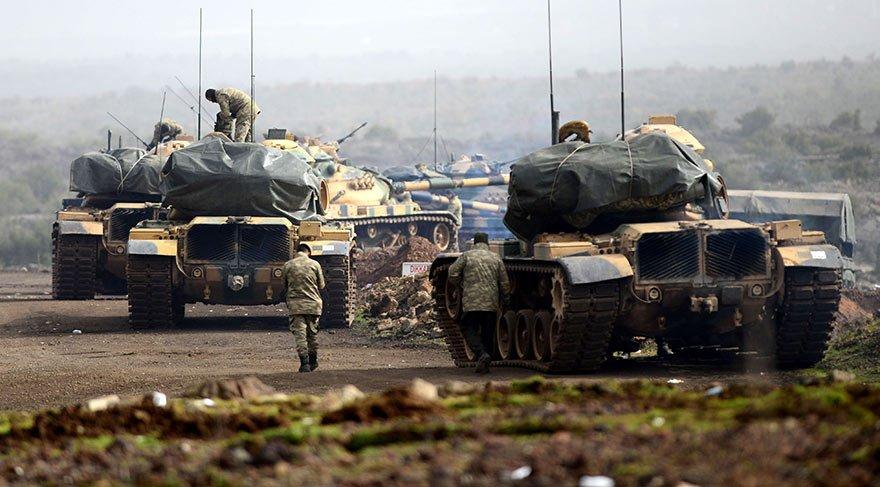 TSK: Tank vuruldu, zayiat yok