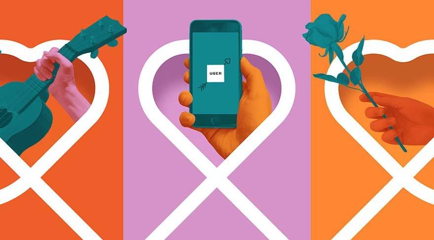 Uber'den sevgililer gününe özel uygulama
