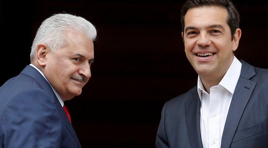 Başbakan Yıldırım mevkidaşı Çipras ile görüştü