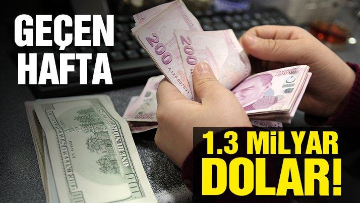Vatandaş 1.3 milyar dolar bozdurdu