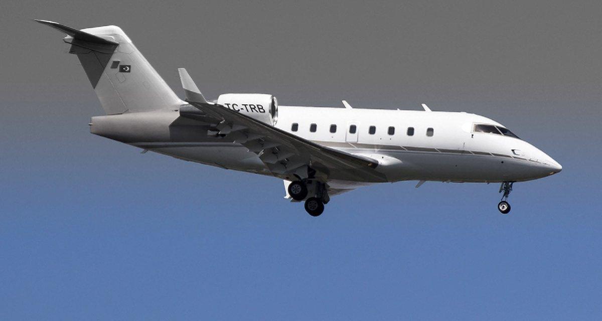 FOTO: DHA / Başaran Holding'e ait, MNG Jet tarafından operasyonu yapılan TC-TRB tescilli Bombardier Challenger 604 tipi iş jeti