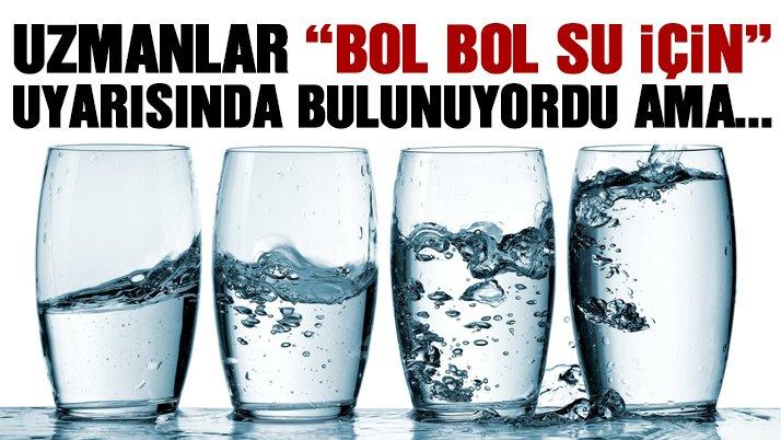 Gereğinden fazla su içmek metabolizmayı bozuyor!